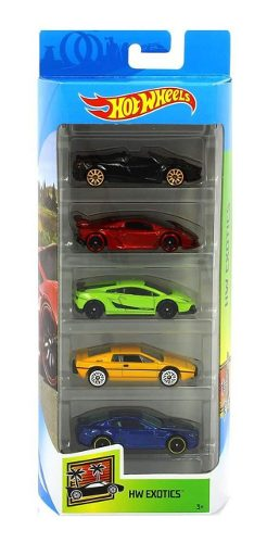 Hot Wheels 5 Pack Hw Exotics  Lamborghini Pagani Aston