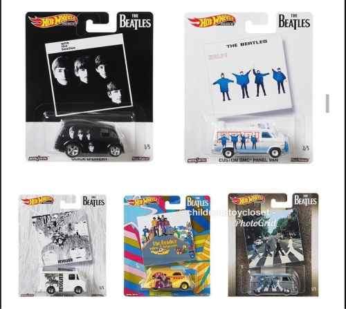 Hot Wheels Beatles  Serie Completa 5 Piezas