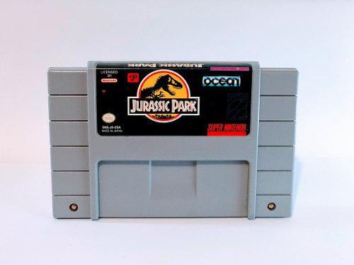 Juego Jurassic Park Super Nintendo Snes En Excelente Estado