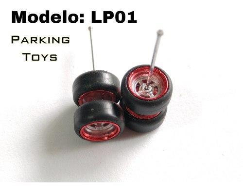 Llantas De Goma Escala 1/64 Para Custom Hot Wheels