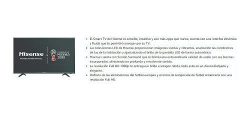 Lytio Hisense 43 Smart Tv Full Hd Led 1080p Con Wi Fi Y La