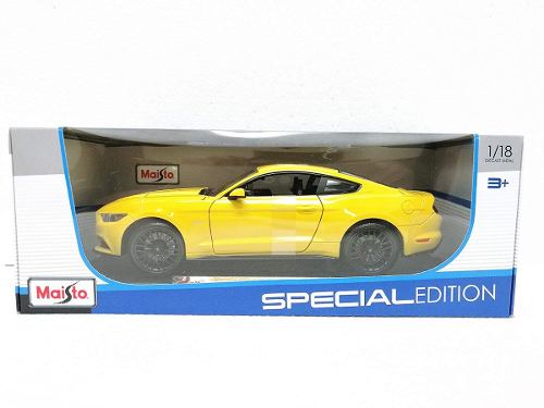 Maisto  Ford Mustang Gt Amarillo Diecast Metal 1/18
