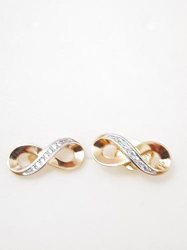 Aretes De Oro De Infinito Cristales Swarovski Envio Gratis