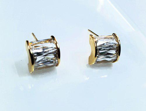 Aretes De Oro Y Cristal Swarovski Certificado Envio Gratis