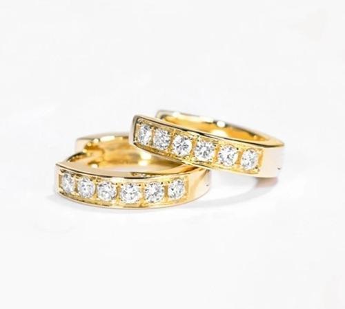 Aretes De Zirconia Calidad Diamante + Cubrepolvos Terciopelo