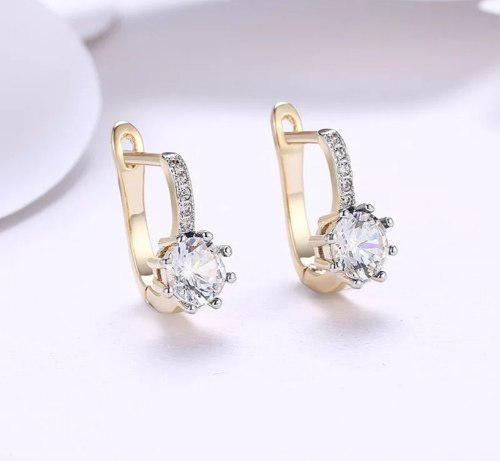 Aretes De Zirconias Calidad Diamante 2 Cms Con Estuche.