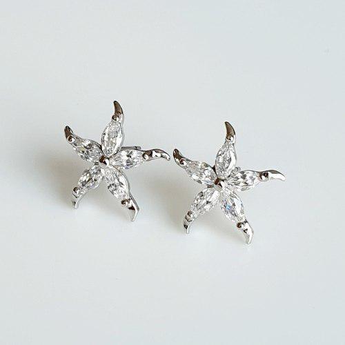 Aretes Estrella De Mar Zirconias Calidad Diamante