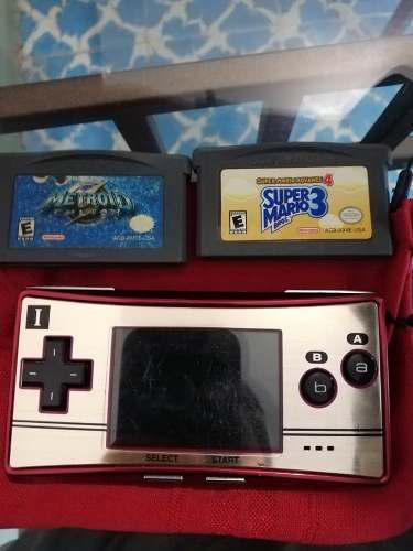Game Boy Micro 20 Aniversario Mario Bros Edición Especial.
