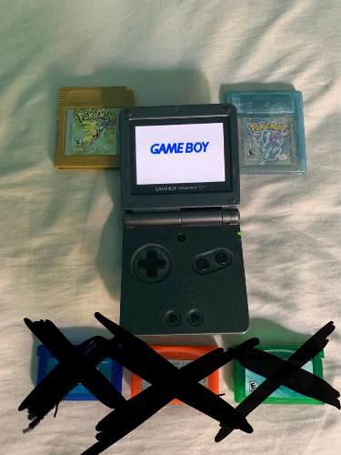 Gameboy Sp Ags 101 (doble Luz) Con Juegos De Pokemon