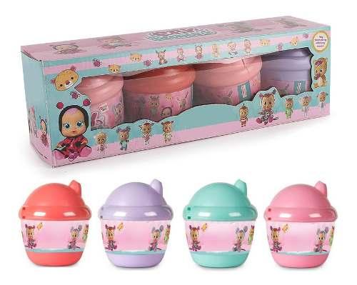 Kit 4 Boneca Mini Cry Babies Chora Lgrimas De Verdade Origin