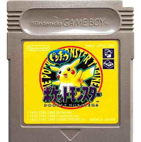 Pokemon Yellow Japones - Pocket Monsters Nintendo Gbc & Gba