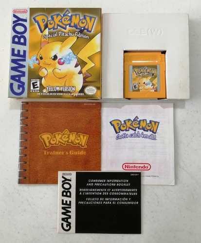 Pokemon Yellow Original Gameboy Nintendo Pokemon Pikachu