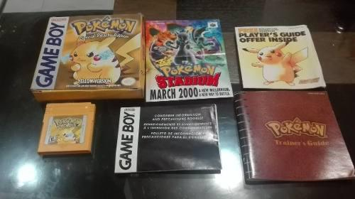 Pokemon Yellow Version Nintendo Game Boy Caja E Instructivo