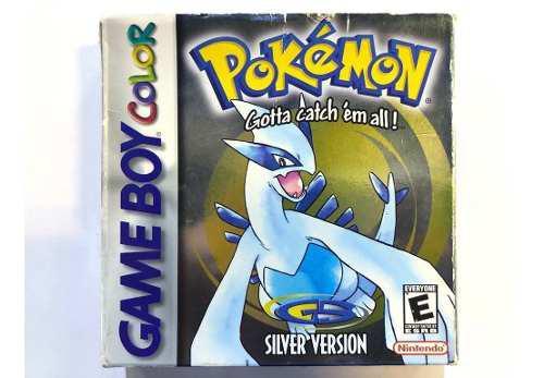 Pokémon Silver Game Boy Color Gbc Completo Retromex Tcvg