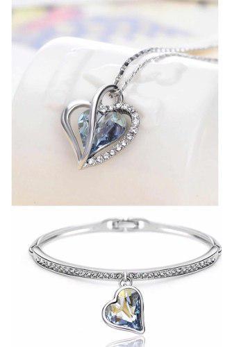 Set Cristal Swarovski Collar/pulsera Regalo Para Mama