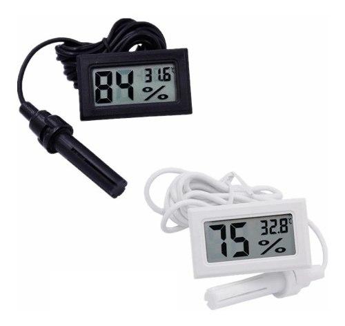 Termómetro Higrómetro Con Sonda Digital Medidor Humedad