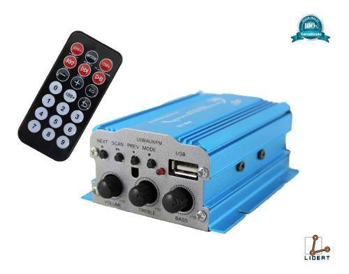Amplificador 2 Canales 800w Usb Auxiliar Radio Fm 010-110