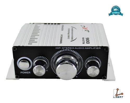 Amplificador 2 Canales 900 Watts Agudos Bajos Rca 010-070