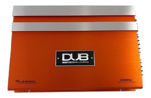 Amplificador Fuente 4 Canales 2400 Watts Clase Ab Dub6004
