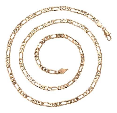 Cadena Oro Lamin 18k Hombre Cadena Cartier 60cm Y 4mm Ancho