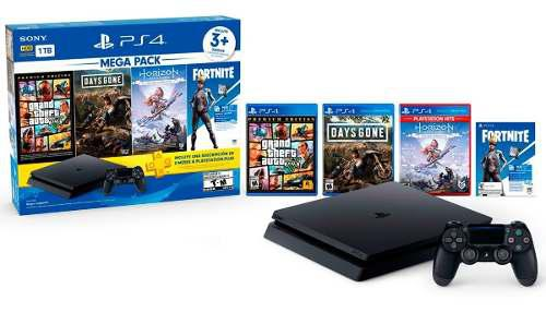 Consola Ps4 Slim Mega Pack 6 De 1 Tera Nuevo Sellado