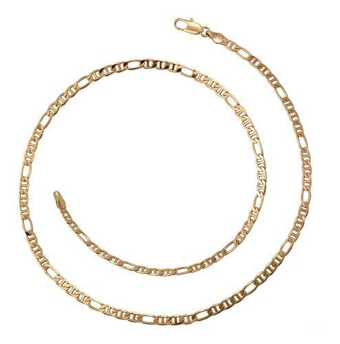 Fina Cadena Hombre De Oro 18k Laminado Gucci De 60cm X 5mm