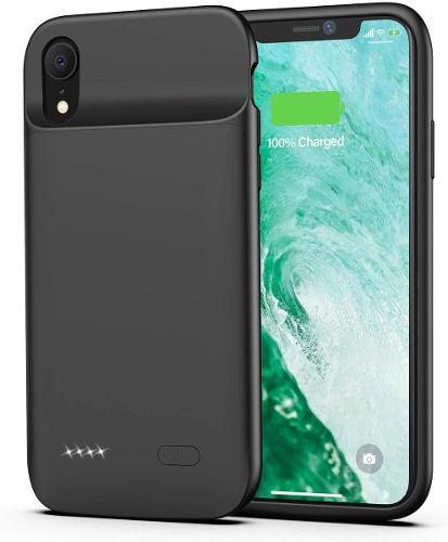 Funda Cargador Bateria Pila iPhone Xr Negro  Mah