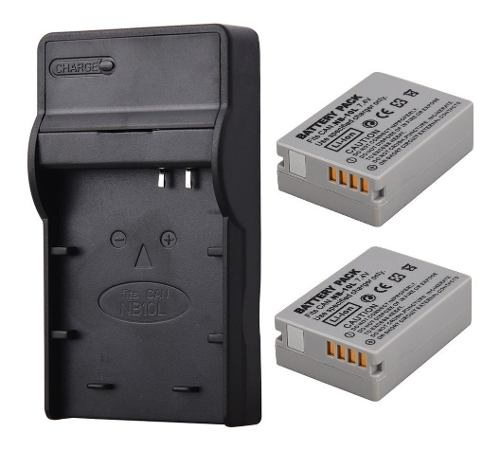 Kit Cargador Y 2 Baterías Para Canon Nb-10l Powershot