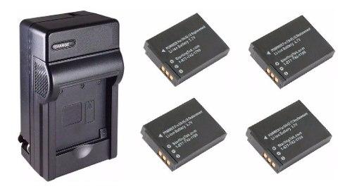 Kit De 1 Cargador Y 4 Baterías En-el12 Para Cámara Digital
