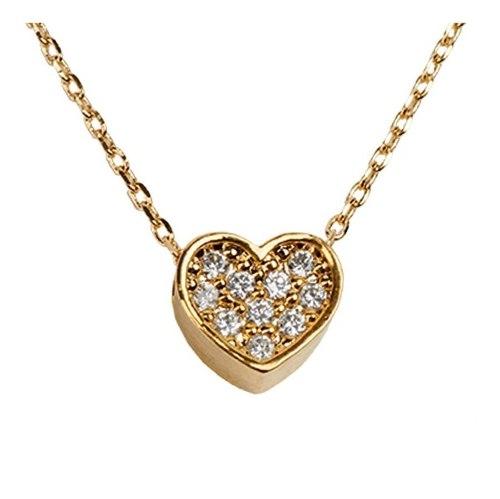 Luckyly Collares Swarovski Mujer Corazón Con Zirconia