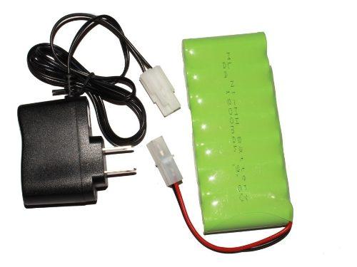 Pila Batería Recargable  Mah 9.6v Con Cargador
