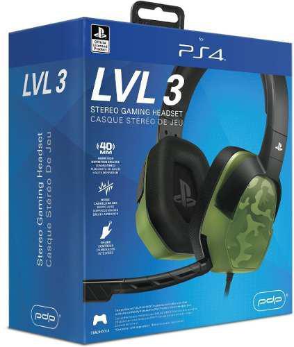 Ps4 Headset Afterglow Lvl. 3 Pdp Diadema Playstation 4 3.5mm