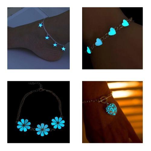 Pulseras Corazón Flor Luna Estrellas Brilla En La Oscuridad