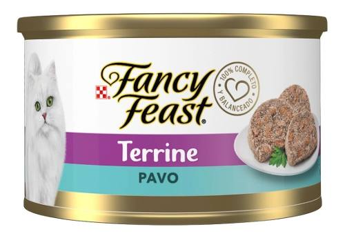 Purina Gato Fancy Feast Terrine Pavo Lata 85g
