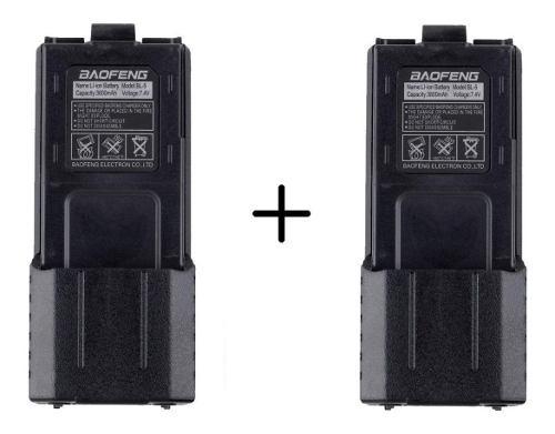 2 Baterias Larga Duracion 3800 Mah Para Radio Baofeng Uv-5r
