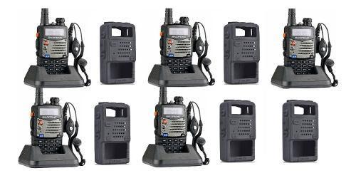 5 Radio Baofeng Uv5r + 5 Fundas De Silicon Doble Banda Y Fm