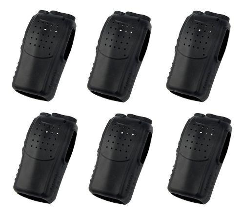 6 Fundas De Silicón Para Radio Baofeng Bf-888s Color Negro