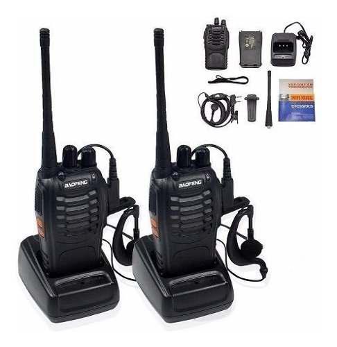 6 Radios Comunicación Portátil Baofeng 2 Vías Bf888s No