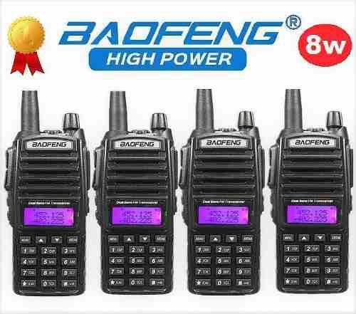 8w Cuatro Radios Baofeng Uv-82 Hp Vhf/uhf Máxima Potencia