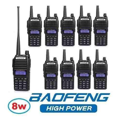 8w Diez Radios Baofeng Uv-82 Hp Vhf/uhf Máxima Potencia