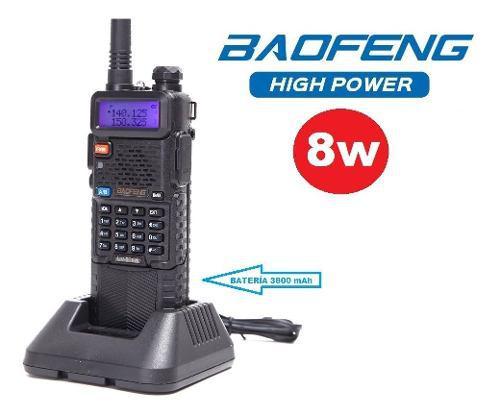 8w Radio Baofeng Uv-5r 3800 Mah Maxima Potencia M. S. I.