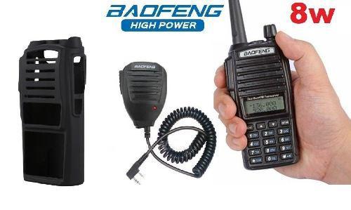 8w Radio Baofeng Uv-82 Hp Máxima Potencia + Micro + Funda