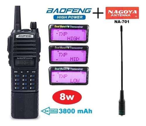 8w Radio Baofeng Uv-82 Hp Pila 3800 Mah + Nagoya 701 M S I