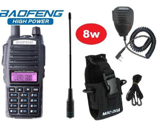 8w Radio Baofeng Uv-82 Hp Vhf/uhf + Micro + Antena + Funda
