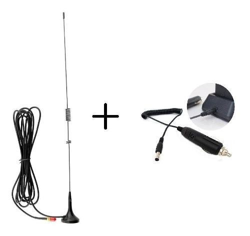 Antena Auto Para Radios Baofeng + Cargador Para Auto