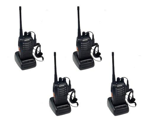 Baofeng Radio Bf-888s Walkie Talkie Con Manos Libres Pack-4