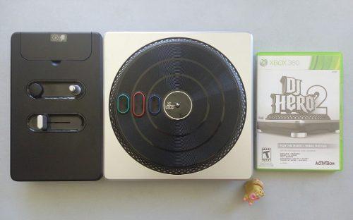 Consola Tornamesa Dj Hero + Dj Hero 2 Xbox 360 Garantizado