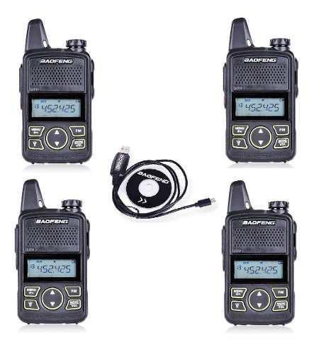 Cuatro (4) Mini Radio Baofeng Bf-t1 Uhf + Cable Programacion