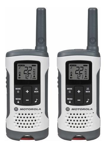 Kit 2 Radios Motorola T260 De 40 Km +baterías Recargables