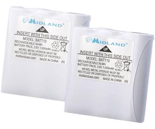 Paquete Baterías Recargables Midland Avp13 Batt10 R T71vp3